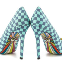 Yes Pointy Toe Colorful Graphic Print Pump