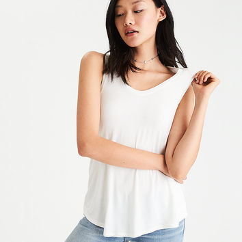 AEO Soft & Sexy Favorite Tank, Natural White