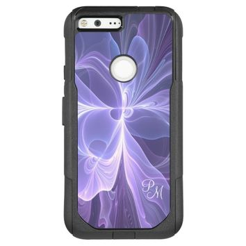 Monogram Purple Abstract Modern Fractal OtterBox Commuter Google Pixel XL Case