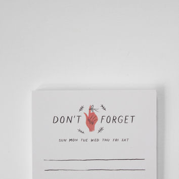 Don't Forget Magnetic Notepad