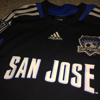 Sale!! Vintage Adidas San Jose Earthquakes Soccer jersey MLS Toddler Football shirt size Medium (5/6) Free US Shipping