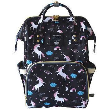 Toddler Backpack class 4 Colors Mommy Maternity Diaper Bag Wet Large Unicorn Baby Nappy Bag Travel Backpack Toddler Roller Nursing Bag for Baby Care AT_50_3
