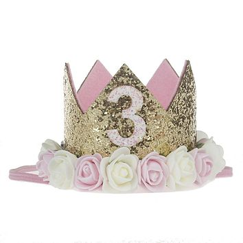 3rd Birthday Crown Third Birthday Girl Gift 3rd Birthday Outfit Birthday Hat 3 Crown Girls Princess Crown