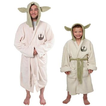 Star Wars Master Yoda Cosplay Adult/ Children/Kids Robes High quality Warm Soft Sleep Top Funny with Hat Pajama 2017 New Arrival