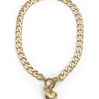 Banner Heart Starter Necklace by Juicy Couture