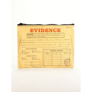 Evidence Zipper Pouch in Recycled Material