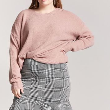 Plus Size Glen Plaid Mini Skirt