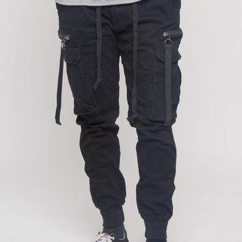 Ribbon Utility Pocket Jogger Pants