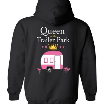 Ladies/Junior's Queen Of the Trailer Park Zip Up Hoodie