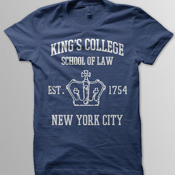 HAMILTON BROADWAY MUSICAL  King's College School of Law Est. 1854 Greatest City in the World Aaron Burr Women Unisex & Men's T-Shirt