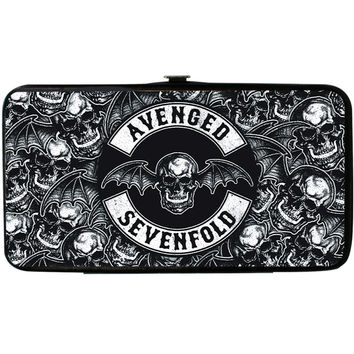 Avenged Sevenfold Women's Deathbat Crest Deathbats Stacked Girls Wallet