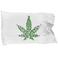 MARIJUANA LOVERS HOLIDAY GIFT SET | Present Pack Includes Pillowcase, Ceramic Cannabis Coffee Mug And Shot Glass | Perfect For Those Who Enjoy Pot, Weed, Bud (4)
