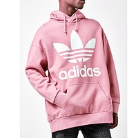 """Adidas"" Women Fashion Hooded Top Pullover Sweater Sweatshirt Hoodie Pink"