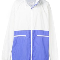 Lavender and White Light Parka by Maison Margiela