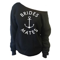 The Brides Mates Off-The-Shoulder Oversized Slouchy Sweatshirt