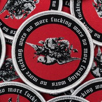 No More Wars Patch. Explicit Anti War Iron On Patch. Peace Dove Badge.