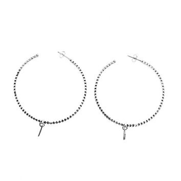 Rebel Punk Grande Hoop Sterling Silver Earring