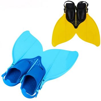 35-38 Adjustable Swimming Fins for Kid Children Mermaid Swim Fin Women Foot Flipper Training Shoes Diving Feet Tail Monofin