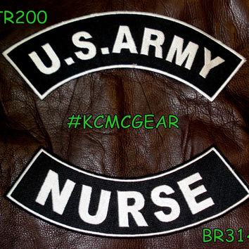 Military Patch Set U.S. Army Nurse Embroidered Patches Sew on Patches for Jackets