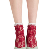 ModCloth Darling Lithe Is But a Dream Socks in Fuschia