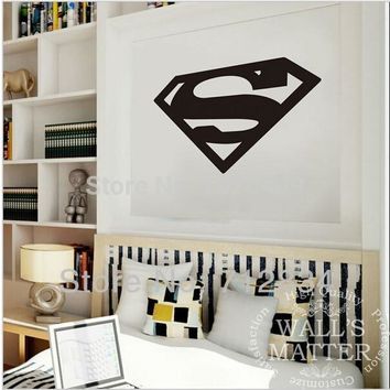 The Avengers superhero Superman logo pvc  carve wall stickers home decals  animation shop cafe bar dormitory door decoration