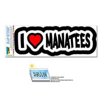 I Love Heart Manatees - Sea Cows Ocean SLAP-STICKZ TM Premium Sticker