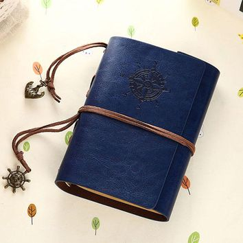 Hot Vintage notebook Kraft paper A6 80 sheets Waterproof Leather Diary Sketch book office school supplies notebooks and journals