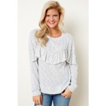 Leader Of The Pack Heathered Grey Top