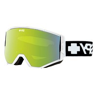 Spy - Ace Matte White Goggles, Bronze W/ Green Spectra + Yellow Lenses