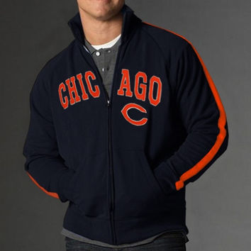 47 Brand Chicago Bears Scrimmage Track Jacket - Navy Blue - http://www.shareasale.com/m-pr.cfm?merchantID=7124&userID=1042934&productID=540321897 / Chicago Bears