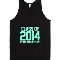 Class of 2014 Peace Out Bitches-Unisex Black Tank