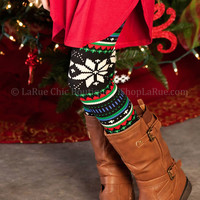 CHRISTMAS DON'T BE LATE KIDS LEGGINGS