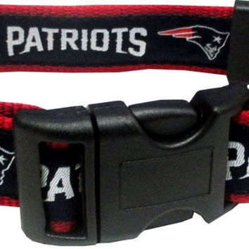 New England Patriots Dog Collar - Ribbon Medium