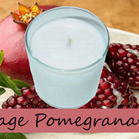 Sage Pomegranate Scented Candle in Tumbler 13 oz