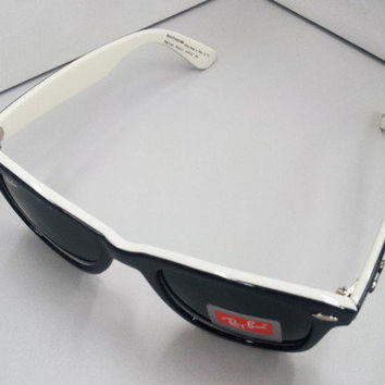 New Rayban Wayfarer RB2140 Special Edition Black White Ray ban