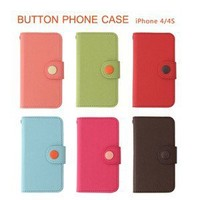 Livework 'Button Case' Leather Wallet Phone Case for iPhone 4/4S 6 Colors | eBay