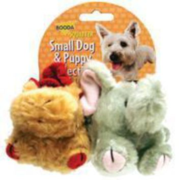 Booda Products - Squatter Moose & Elephant Dog Toy