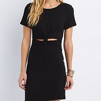 KNOTTED CUT-OUT DRESS