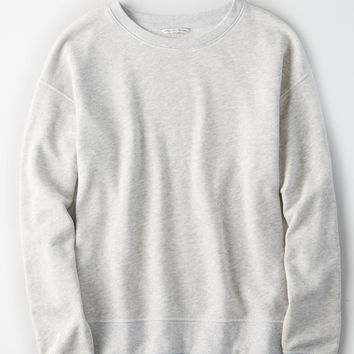 AE Lived & Loved Crew Sweatshirt, Gray