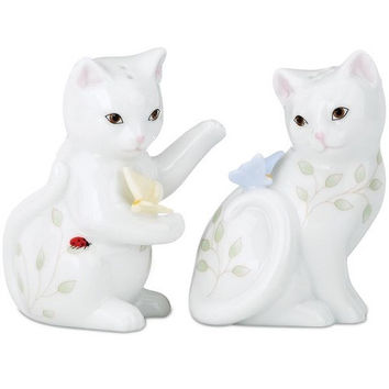 Butterfly Meadow Kitten Salt & Pepper Shaker Set by Lenox