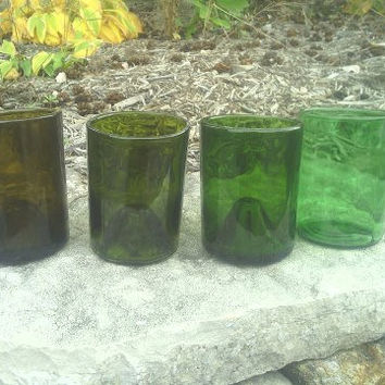 Recycled Wine Bottle Glasses / Tumblers,  eco-friendly, sustainable, upcycled glassware