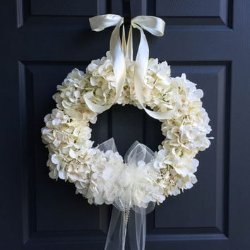 The Wedding Veil Wreath Decorations Bridal Hydrangea