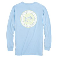 Seersucker Skipjack Long Sleeve T-Shirt in Sky Blue by Southern Tide - FINAL SALE