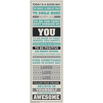 Be Awesome Inspirational Motivational Happiness Quotes Decorative Poster Print New Style