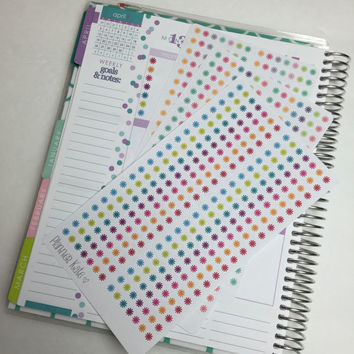 S23 CHECKLIST Sticker for Erin Condren Life Planner - 40 Removable Matte Stickers