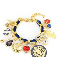 Gold Duchess Statement Charm Bracelet by Juicy Couture, No