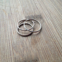 Eco-Friendly Sterling Silver Stacking Rings - Recycled Silver Stacking Rings - Reclaimed Silver Ring - Ethical Jewelry