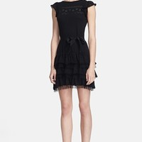 RED Valentino Ruffled Knit Dress