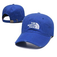 The North Face Fashionable Women Men Casual Embroidery Sports Sun Hat Baseball Cap Hat Blue
