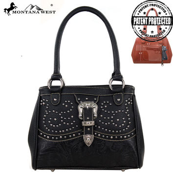 Montana West MW127G-8036 Buckle Concealed Carry Handbag